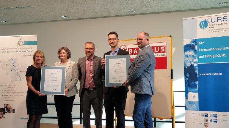 Neue Lernpartnerschaft zwischen Bauhaus und GHS Herbertskaul ratifiziert