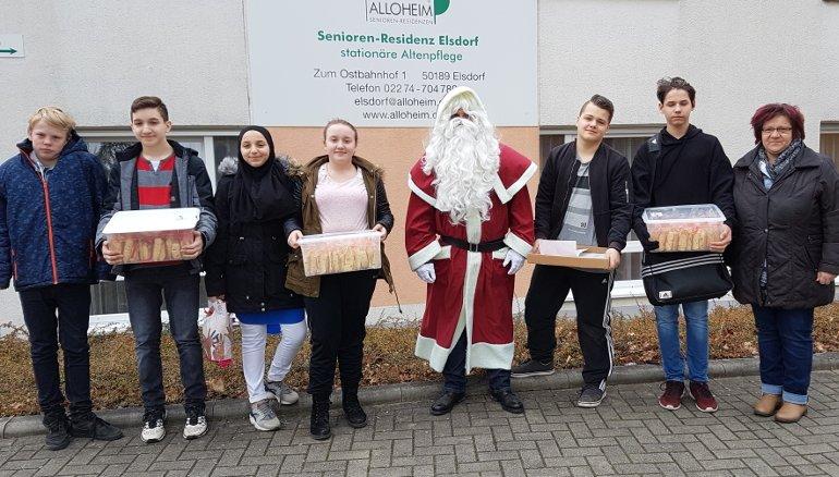 Gesamtschule Elsdorf besucht Alloheim