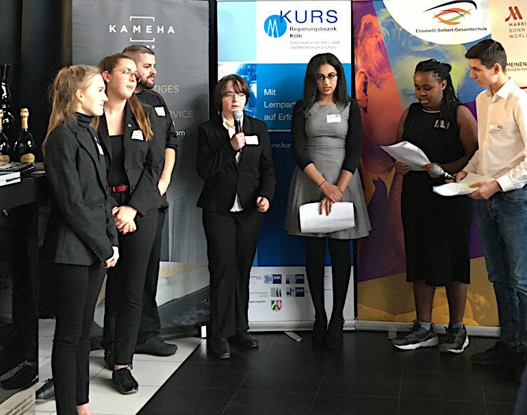 Feier neue Lernapartnerschaft zwischen Invite Group und Elisabeth-Selbert-Gesamtschule