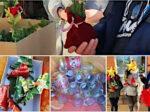 Schüler basteln weihnachtsdekoration